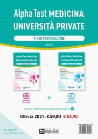 Alpha Test Medicina Università private. Kit di preparazione