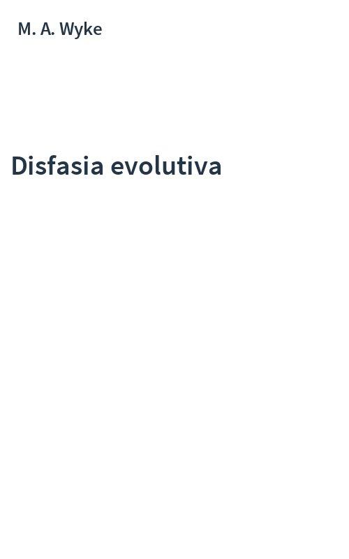 Disfasia evolutiva