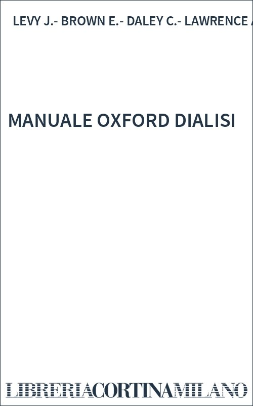 MANUALE OXFORD DIALISI