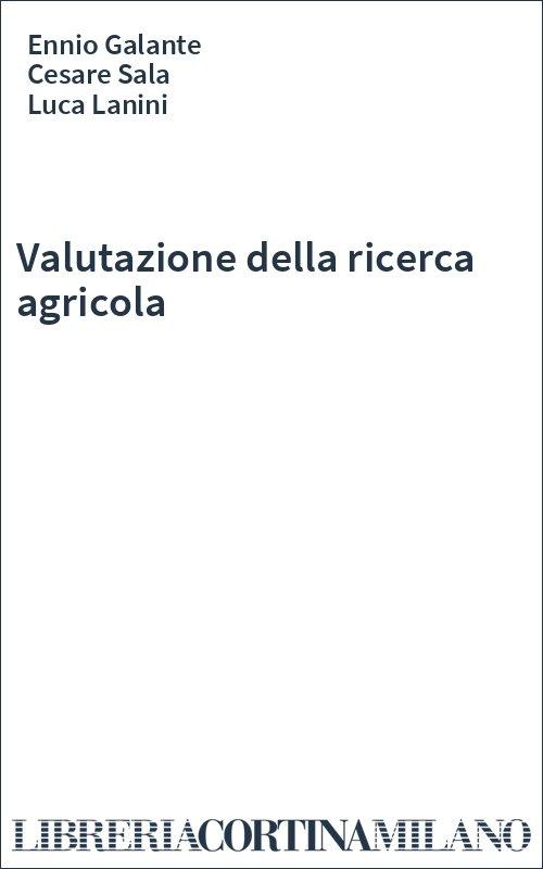 Valutazione della ricerca agricola