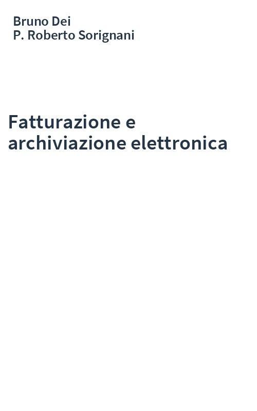 Fatturazione e archiviazione elettronica