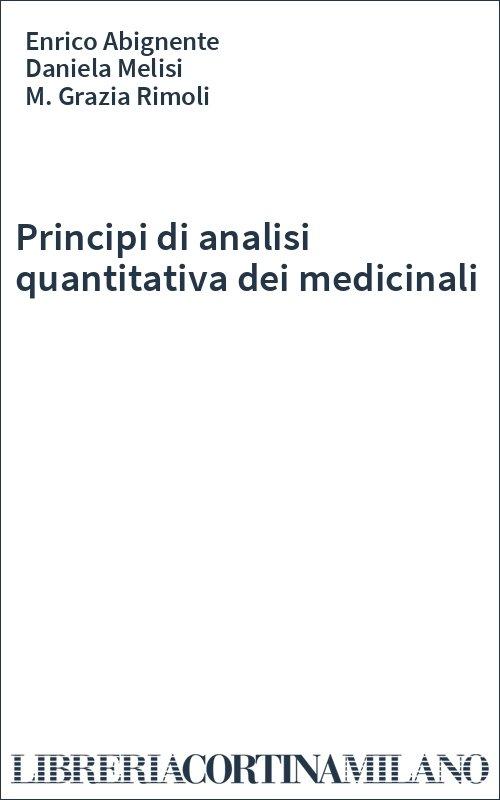 Principi di analisi quantitativa dei medicinali