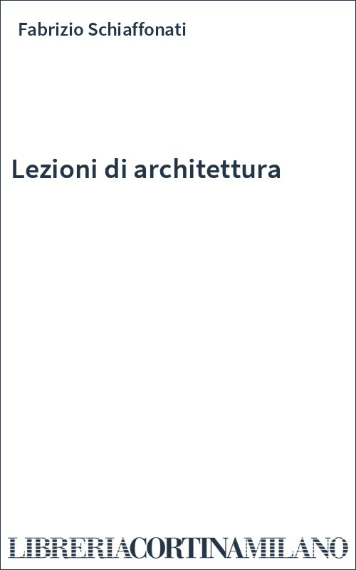 Lezioni di architettura