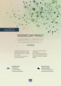 Vademecum Privacy. Quaderno operativo per il trattamento dei dati nella PA