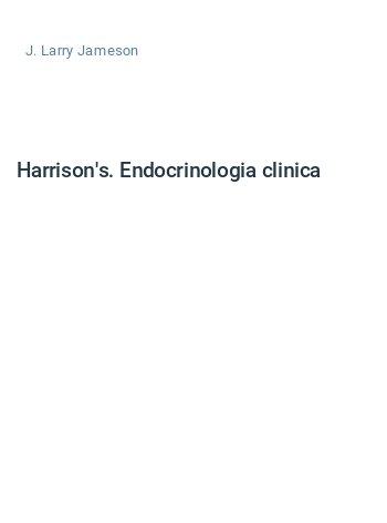 Harrison's. Endocrinologia clinica