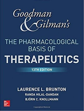 Goodman & Gilman's. The pharmacological basis of therapy