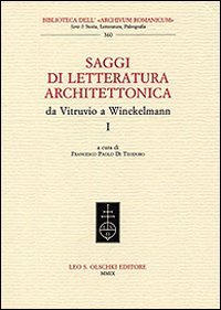 Saggi di letteratura architettonica, da Vitruvio a Winckelmann