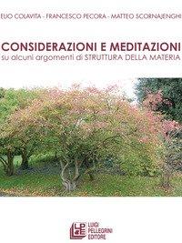 Considerazioni e meditazioni su alcuni argomenti di struttura della materia