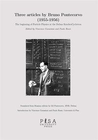 articles by Bruno Pontecorvo (1955-1956). The beginning of Particle Physics at the Dubna SynchroCyclotron
