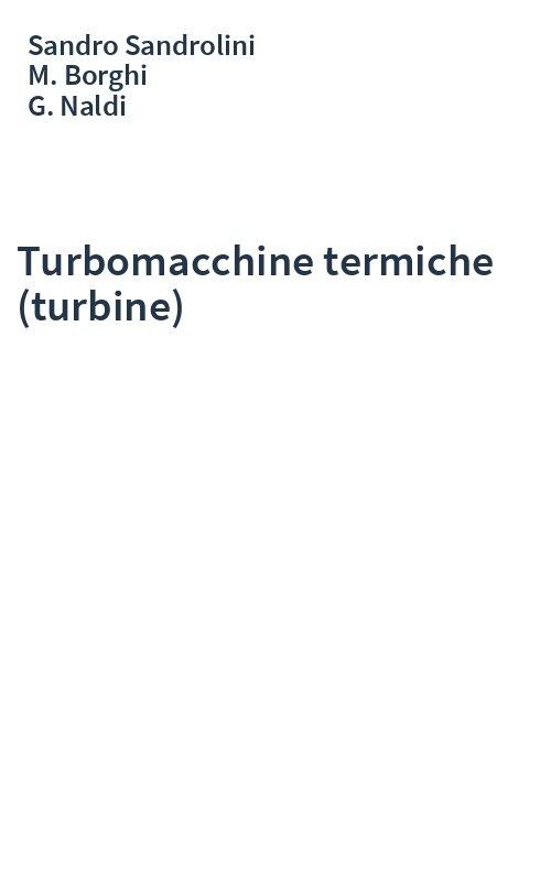 Turbomacchine termiche (turbine)
